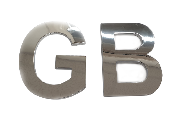 GB Chrome Lettering